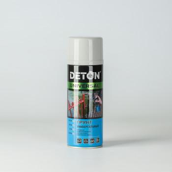 Грунт аэрозольный DETON алкидный светло-серый, 0,52 л