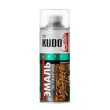 Эмаль по ржавчине KUDO молотковый эффект, серебристая, 0,52л