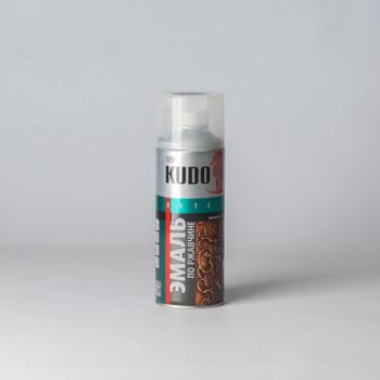 Эмаль по ржавчине KUDO молотковый эффект, серебристо-черняя, 0,52л