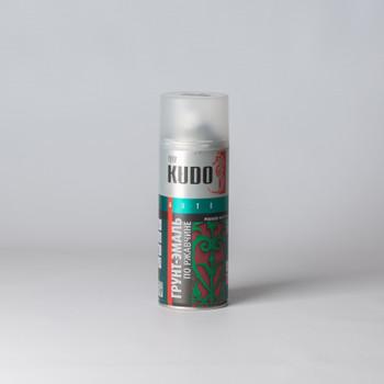 Эмаль по ржавчине аэрозольная KUDO гладкая матовая, красная, 0,52л