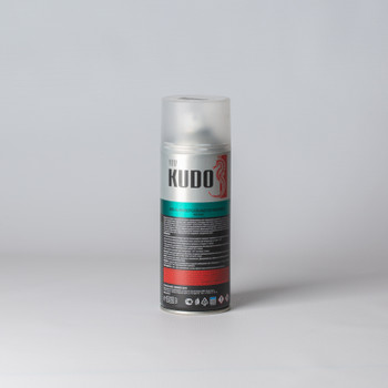 Эмаль по ржавчине аэрозольная KUDO гладкая матовая, синяя, 0,52л