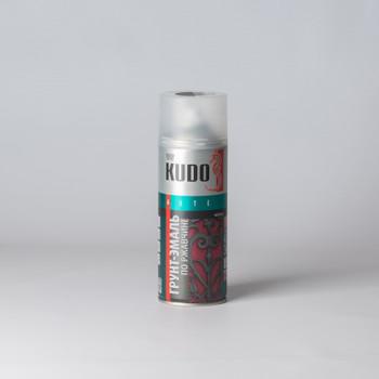Эмаль по ржавчине аэрозольная KUDO гладкая матовая, черная, 0,52л