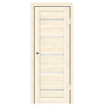 Полотно дверное остекленное Бьянка СИНЕРЖИ ваниль ПВХ, ПДО 600х2000мм