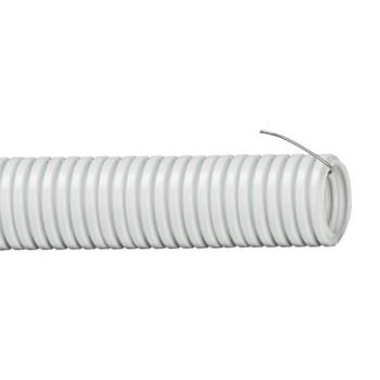 Труба гофрированная ПВХ 20мм с протяжкой серая (100м)