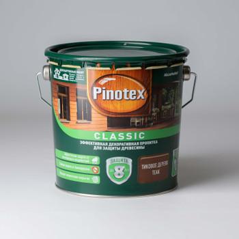 Декоративно-защитное средство для дерева Pinotex Classic Тик, 2,7л