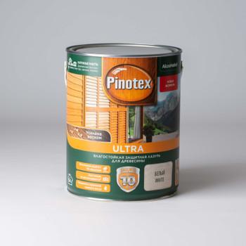 Декоративно-защитное средство для дерева Pinotex Ultra Белый, 2,7л