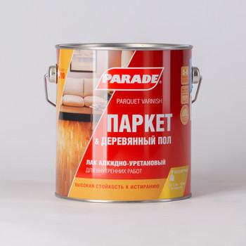 Лак паркетный алкидно-уретановый L10, PARADE, п/матовый, 2,5л