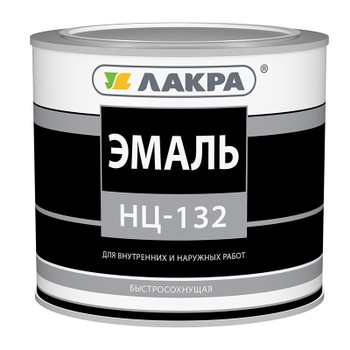 Эмаль НЦ-132 желтая, 1,7 кг (Лакра)