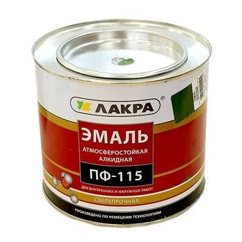 Эмаль ПФ-115 охристо-желтая гл. (2 кг)(Лакра)