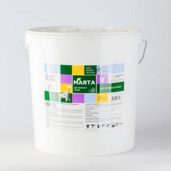 Краска для гостиных и спален MARTA ECO, белая, 28 кг