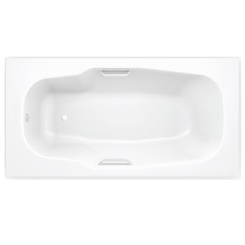 Стальная ванна с отверстиями для ручек BLB ATLANTICA 180х80, B80A handles