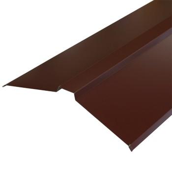 Планка конька плоского 150х150х2000 (ПЭ-01-8017-ОН) шоколад