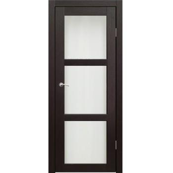 Полотно дверное остекленное Гарде (стекло Лакобель белое) СИНЕРЖИ венге ПВХ, ПДО 700х2000мм
