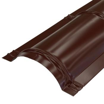 Планка конька круглого R110х2000 (ПЭ-8017-ОН) шоколад
