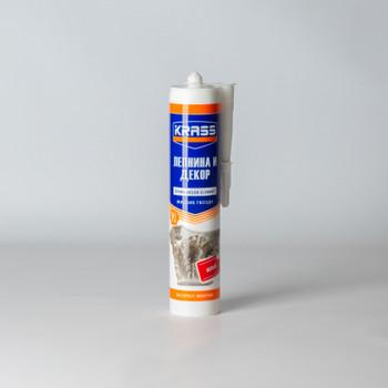 Жидкие гвозди Krass Экспресс монтаж для стиропора и панелей (белый), 300 мл