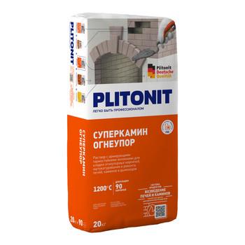 Кладочный состав Плитонит СуперКамин Огнеупор 20 кг