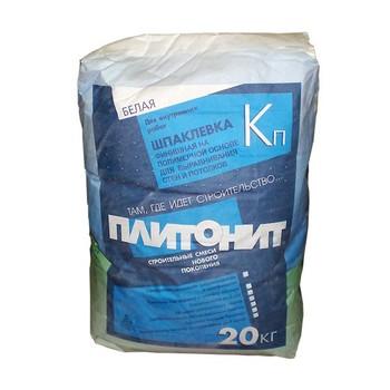 Шпатлевка Плитонит Кп (белая), 20 кг