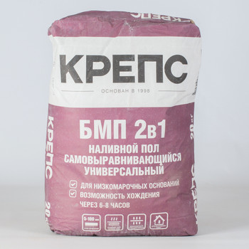 Ровнитель для пола Крепс БМП самовыравнивающийся, 20 кг