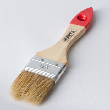 Кисть флейцевая 35 мм, натуральная щетина, дерев. ручка Мастер Marta