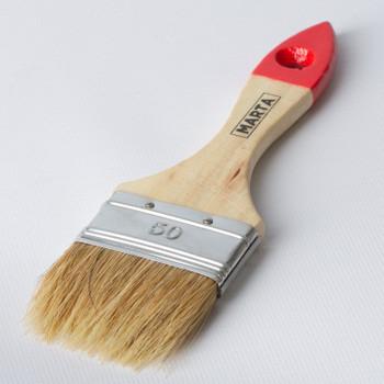 Кисть флейцевая 50 мм, натуральная щетина, дерев. ручка Мастер Marta