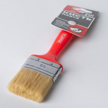 Кисть флейцевая 50 мм, натуральная щетина, пласт. ручка Профи Marta