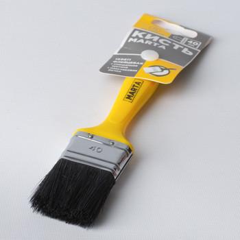 Кисть флейцевая 40 мм, натуральная щетина, пласт. ручка Профи Marta