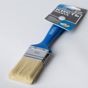 Кисть флейцевая 40 мм, искусственная щетина, пласт. ручка Профи Marta