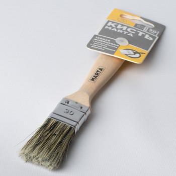 Кисть флейцевая Marta, черная ручка твердое дерево, 30 мм