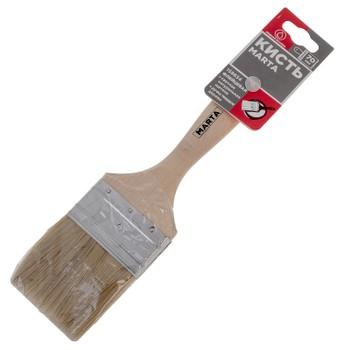 Кисть флейцевая Marta, светлая ручка твердое дерево, 70 мм