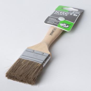 Кисть флейцевая 50 мм, смешенная щетина, дерев. ручка Эксперт Marta