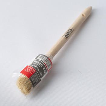 Кисть круглая Ø25 мм, натуральная щетина, дерев. ручка Мастер Marta