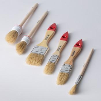 Набор из 6 флейцевых кистей, натур. щетина, дерев. ручка Мастер Marta