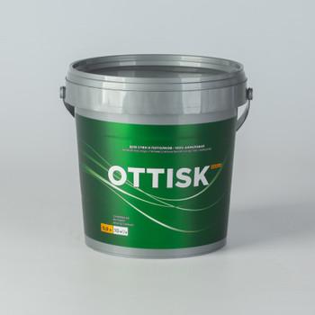 Краска для стен и потолков OTTISK влагостойкая, база А, 0,9л