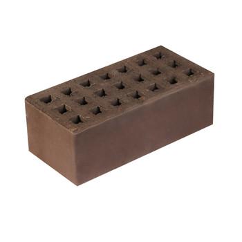 Кирпич облицовочный пустотелый полуторный К-1,35 коричневый, Кемма