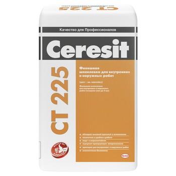 Шпатлевка Ceresit CT225 фасадная финишная серая, 25 кг