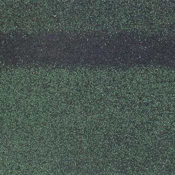 Коньково-карнизная черепица Шинглас, Кадриль-соната (Нефрит), зеленый 1000х250мм 5м2