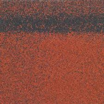 Коньково-карнизная черепица Шинглас, Кадриль-соната (Турмалин), красный 1000х250мм 5м2