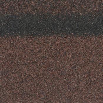 Коньково-карнизная черепица Шинглас, Кадриль-соната (Агат), коричневый 1000х250мм 5м2