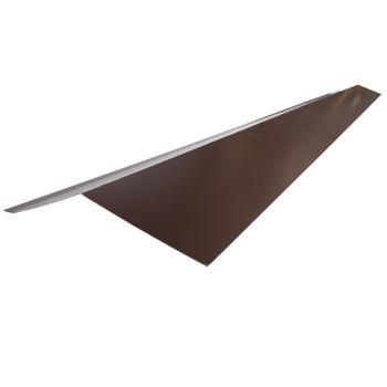 Планка карнизная Шинглас, коричневая, 2000х100х50х10 мм