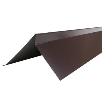 Планка торцевая Шинглас, коричневая, 75х25х65х5 мм длина 2 м