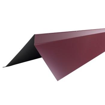 Планка торцевая Шинглас, красная,75х25х65х5 мм длина 2 м