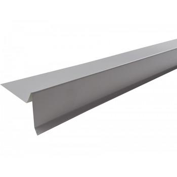 Планка торцевая Шинглас, серая, 75х25х65х5 мм длина 2 м