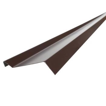Планка примыкания Шинглас, коричневая, 20х45х15х10 мм длина 2 м
