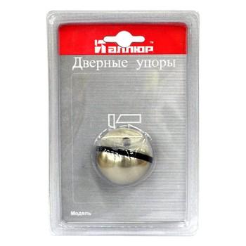 Ограничитель дверной АЛЛЮР G-7018-SN круглый матовый никель ЕВРОПАКЕТ