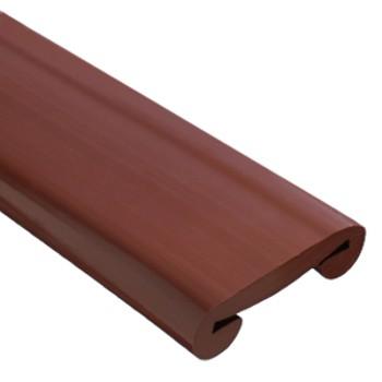 Поручень ПВХ коричневый 50х4 RAL 8016, бухта 21 м