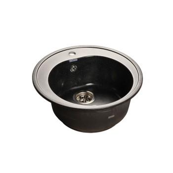Мойка кухонная GranFest Rondo GF-R510 черный