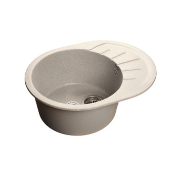 Мойка кухонная GranFest Rondo GF-R580L серый