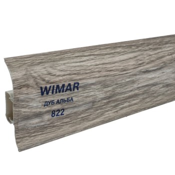 Плинтус Wimar 58мм c кабель каналом 822 Дуб альба 2500х58х25мм