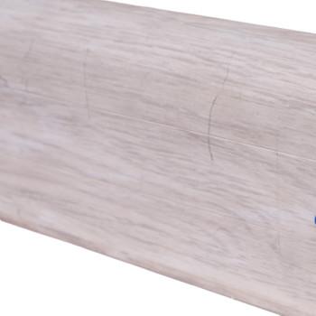 Плинтус Wimar 58мм c кабель каналом 831 Дуб аргенто 2500х58х25мм