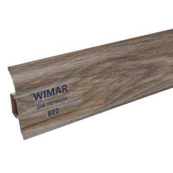 Плинтус Wimar 58мм c кабель каналом 802 Дуб термоли 2500х58х25мм